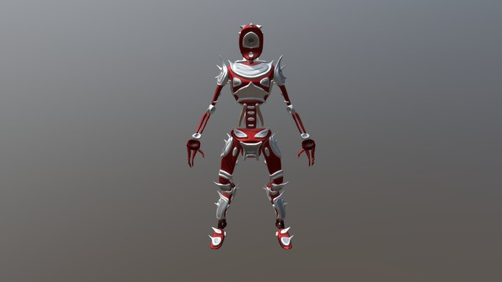 Robot con Armadura 3D Model