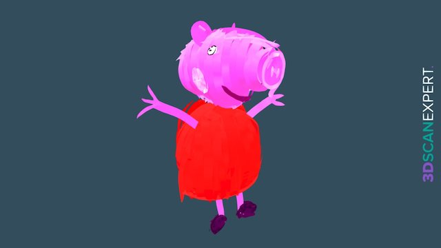 Peppa Pig — My First Tilt Brush Artwork 3D Model