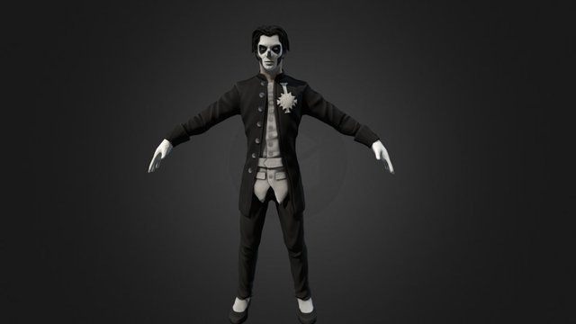 GHOST Singer Papa Emeritus III 3D Model