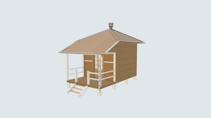 Peel Island Lazaret - Hut 02 3D Model