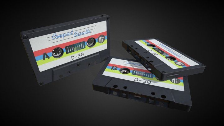 Cassette tape (Fita cassete) 3D Model