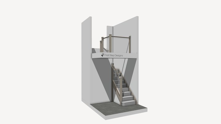 M Cheshire Staircase Renovation proposal 3D Model