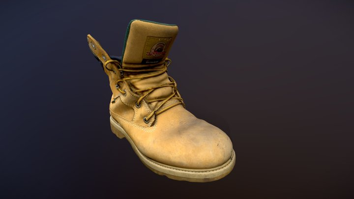 Work Boot 3D Model