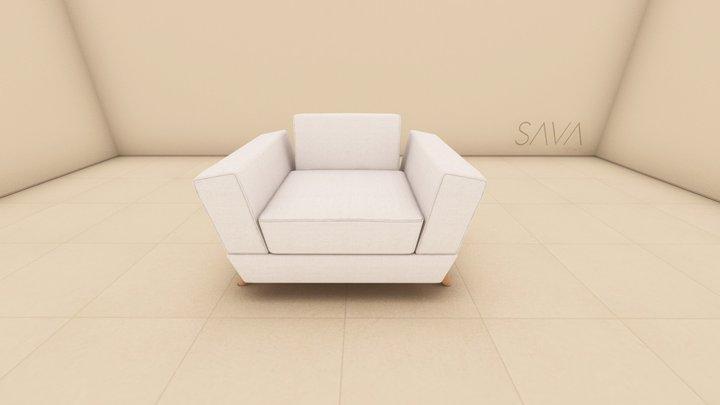 Poltrona Saccaro 3D Model