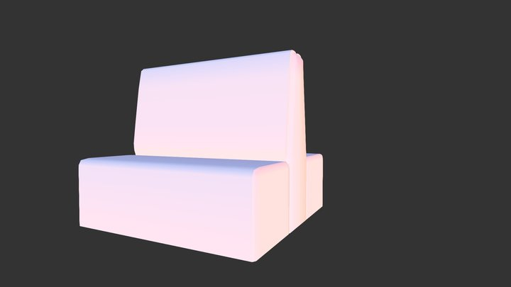 Diner couch 3D Model