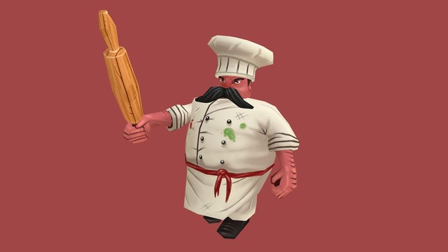 Angry chef 3D Model