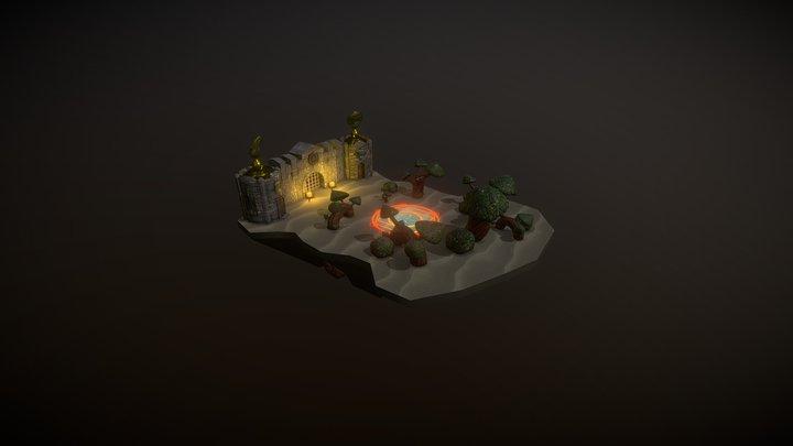 Diorama Alexandros 3D Model
