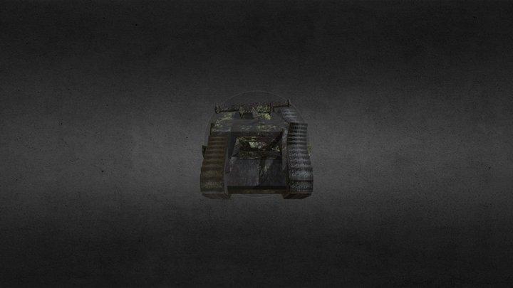 Mark 5 British Tank Destroyed (ww1) 3D Model