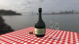 champagne moét 3D Model