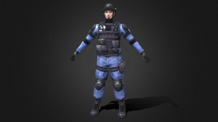 Police 02 3D Model