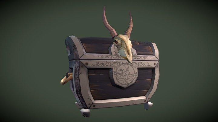 Skulled Treasure Chest 3D Model
