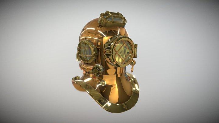 Diver Type V Helmet 3D Model