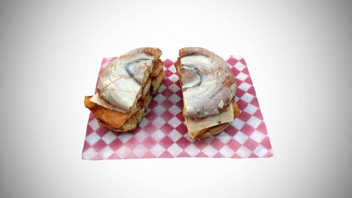The Chickenator Sandwich 3D Model