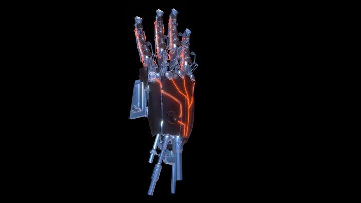 Mechanical Hand WIP 3D Model