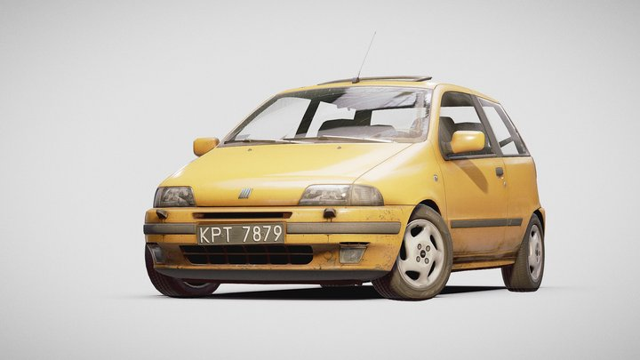 (FREE) 1995 Fiat Punto GT 3D Model