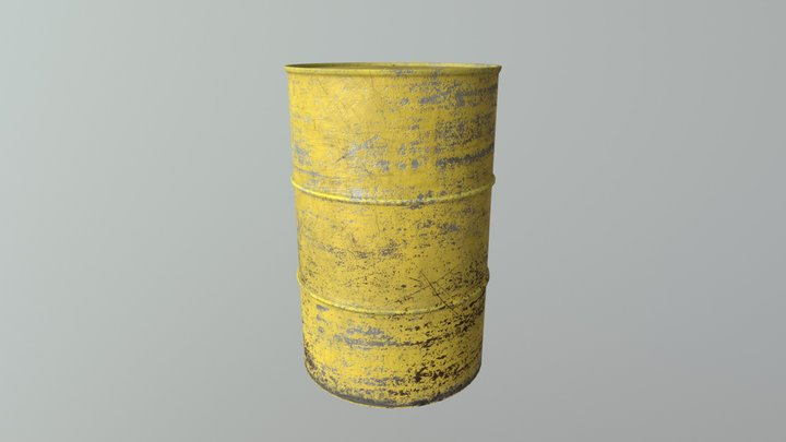 Barrel - Staffordshire Uni 2017 3D Model