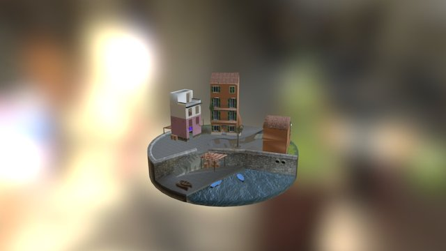 3D1 Cityscene examen door Inias Schoutteet 3D Model