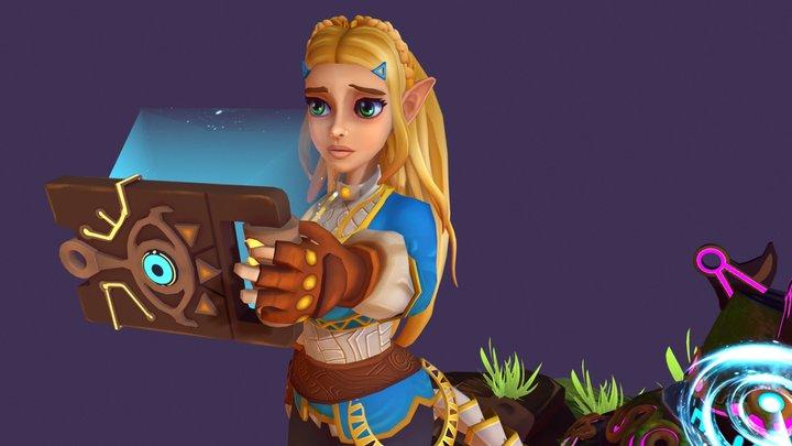 "Princess Zelda ""Breath of the Wild"" 3D Model"