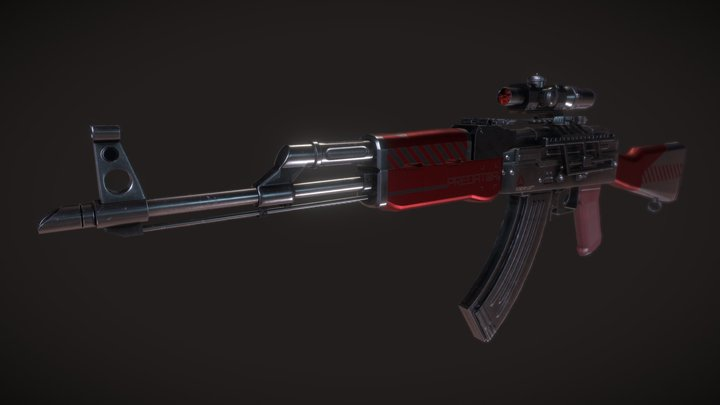 AK-303 - PRO Patrol Rifle Optic / Predator vinyl 3D Model