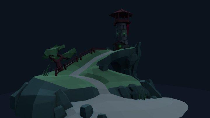 Spooky Island 3D Model