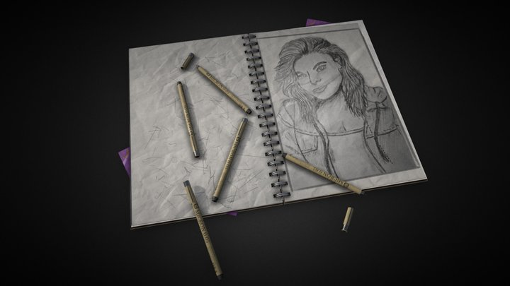 Sketchbook 3D Model