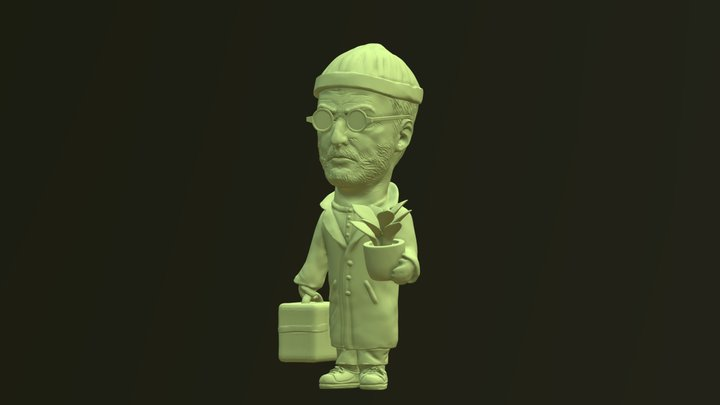 Jean The Professional (Zbrush) (3d printable) 3D Model