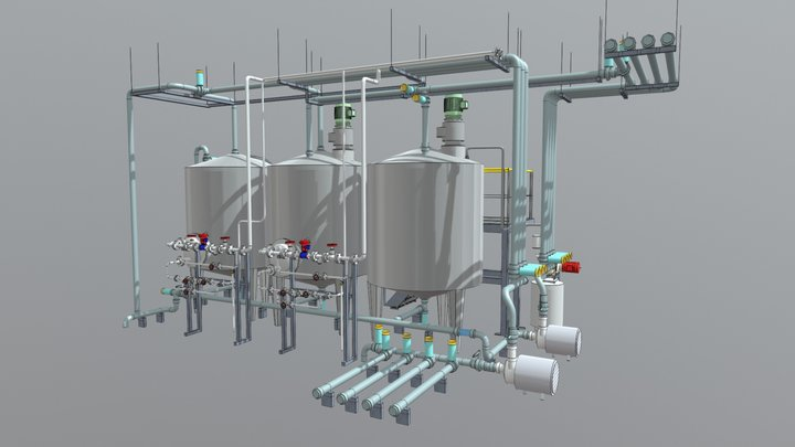 Equipement de lavage 3D Model