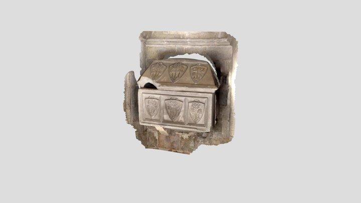 Medieval tomb in Barcelona 3D Model