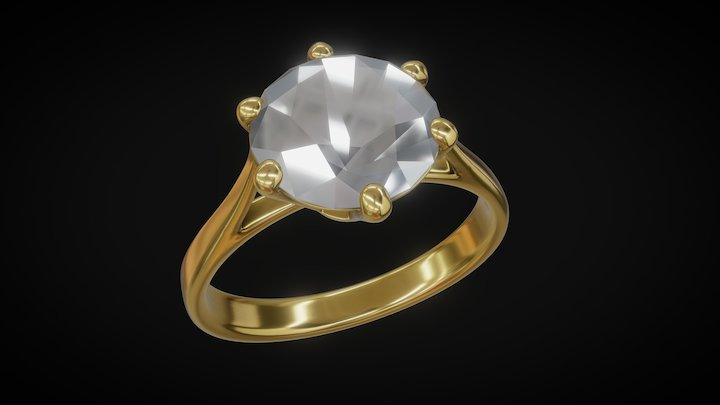 Testing gold and diamond material 3D Model