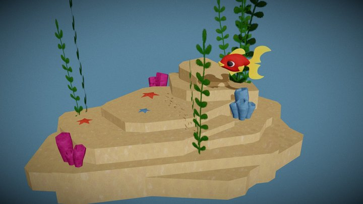 FishyThing swimming - CosaPesce nuota 3D Model