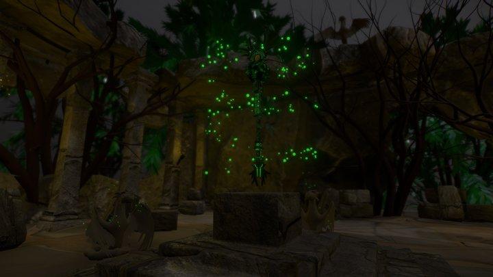 Secret Jungle Temple 3D Model