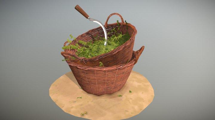 Wicker Baskets 3D Model
