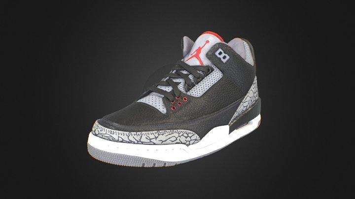 Nike Air Jordan 3 Retro 3D Model