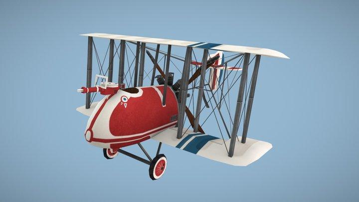 AMC DH.2 Plane (Stylized) 3D Model