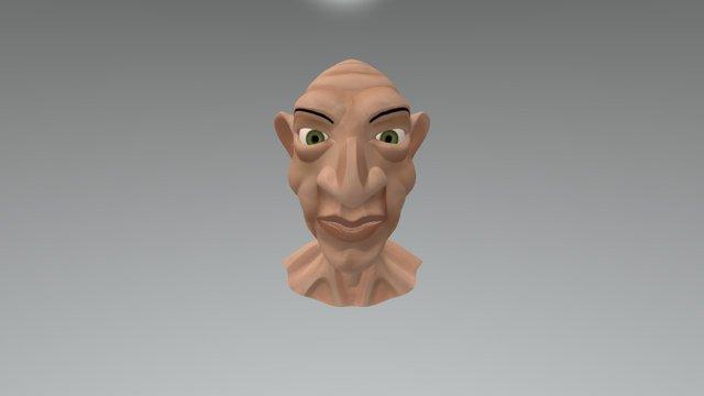 Cartoon oldman 3D Model