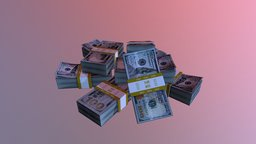 Money Bundle 3D Model