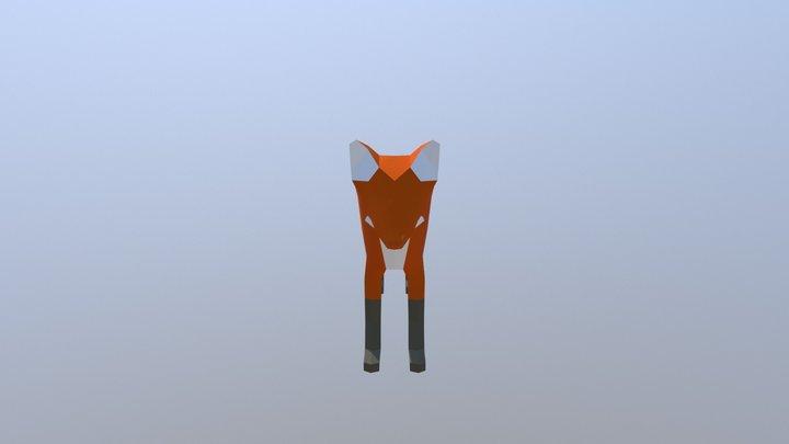 Low-poly Fox 3D Model
