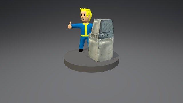Vault-boy 3D Model