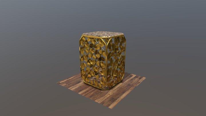 Gold 300x460 Leaf 3D Model