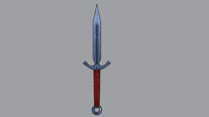 Knife _ hand-painted 3D Model