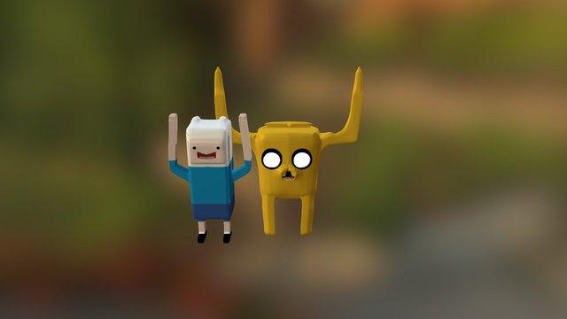 Jake and Finn 3D Model