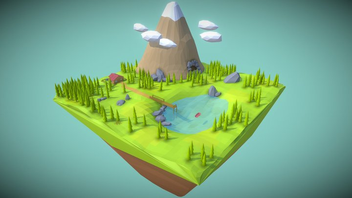 Low Poly Nature 3D Model