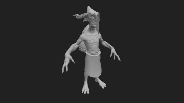 Goblin Creature Zbrush Model high poly 3D Model