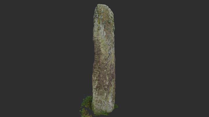 Kilcullen ogham stone 3D Model