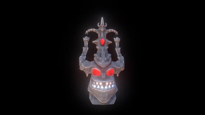 Tiki_totem (cartoon) 3D Model
