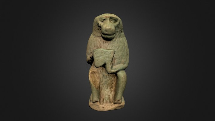 Thoth as baboon 3D Model