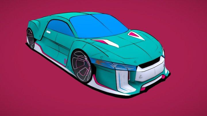 Sports car VR 3D Model