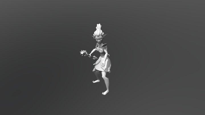 Plant Girl Animation 3D Model