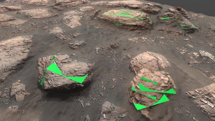 Gale Crater (Mars): 3D geo model of veins 3D Model