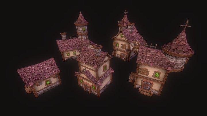 Medieval Houses 3D Model